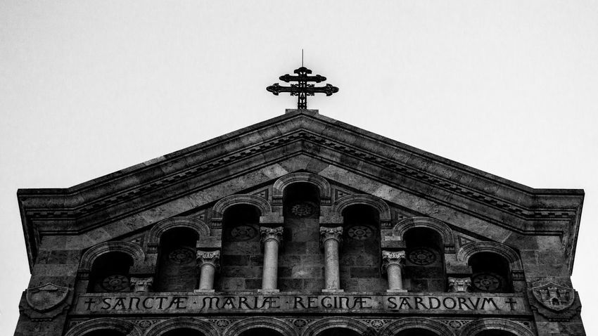 Cagliari, Cathedral. 18-55mm Architecture Architecture_collection B/W Photography Blackandwhite Blackandwhite Photography Building Exterior Built Structure Cagliari, Sardinia Canon Canon1200d Canonphoto Canonphotography Church Contrast EyeEm EyeEm Best Shots Italy Low Angle View Outdoors Sculpture Structure The Architect - 2017 EyeEm Awards