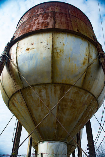 Industrial Water Tower Abandoned Day Low Angle View Metal No People Outdoors Rusty Rusty Metal Storage Tank Water Tank