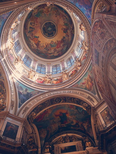Backgrounds Full Frame Place Of Worship Pattern Close-up Architecture Fresco Architecture And Art Architectural Detail Cupola Historic History
