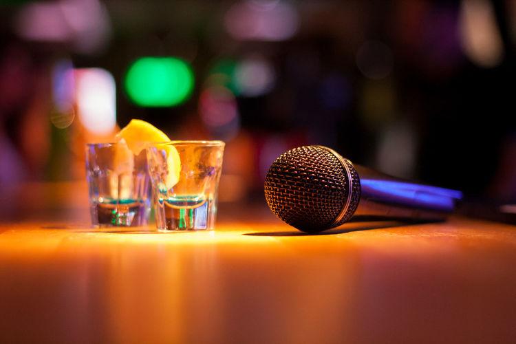 Tequila and karaoke Karaoke Microfone Nightphotography Nightclub Nightlife Drink Shot Glass Alcohol Bar - Drink Establishment Tequila - Drink Cocktail Drinking Glass Table Bartender Happy Hour Singing EyeEmNewHere