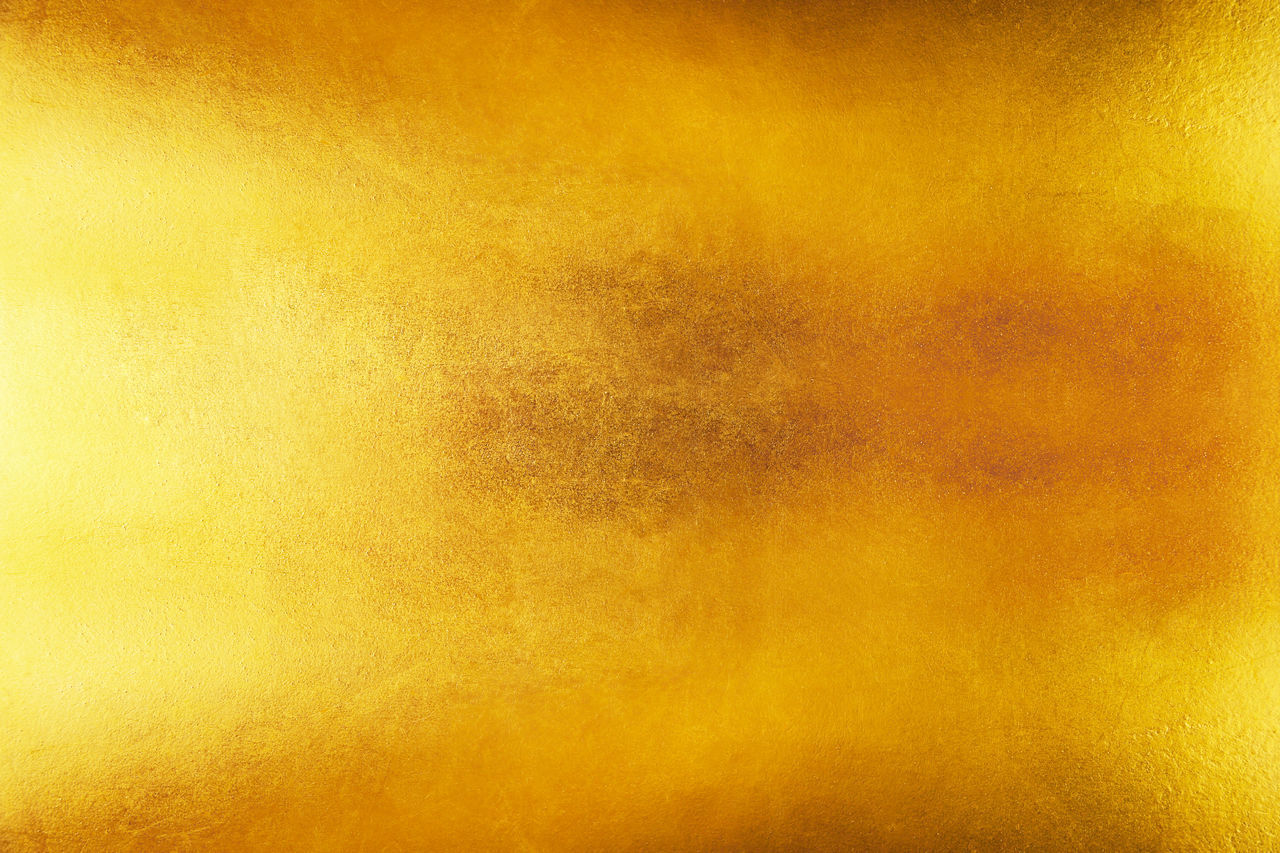 yellow, backgrounds, abstract, textured, metal, gold colored, orange color, gold, abstract backgrounds, vibrant color, no people, pattern, arts culture and entertainment, paper, old, stained, run-down, grunge, close-up, creativity, textured effect, ruined, orange background