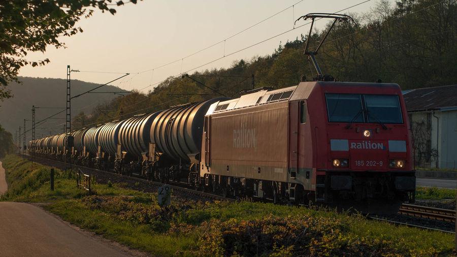 Abendstimmung Deutsche Bahn Eisenbahn Freight Train Güterverkehr Railway