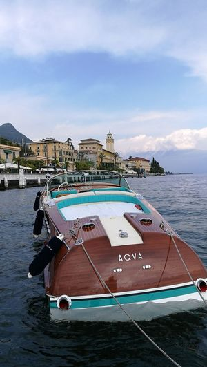 Nautical Vessel Water Moored Rivaboats Gardalake Italy Classic Boats Lake Italian Lakes Beautiful Italy🇮🇹