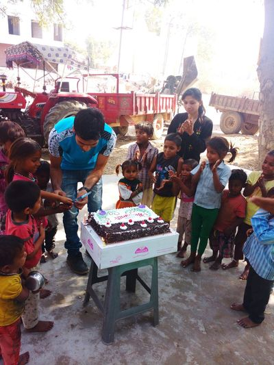 My birthday celebration with Orphan and Street children.