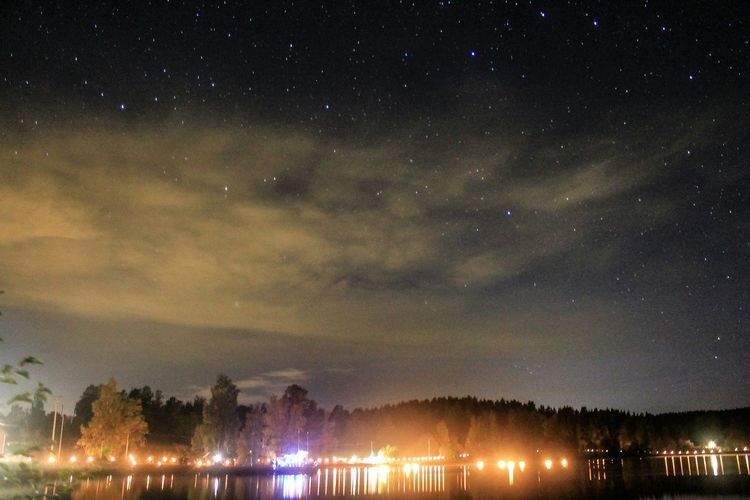 Night of Lights. Eyem Best Shots Water Nature Landscape Open Edit Sweden Europe Night Lake Stars
