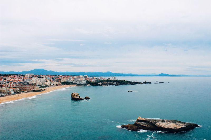 Summer Summertime Vacation France Phare Du Biarritz Ocean Ocean View