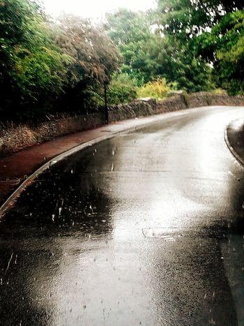 Rainy Rainy Day Rainy Road Road England Raining