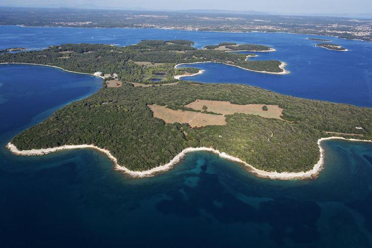 Aerial view of brijuni island, adriatic sea