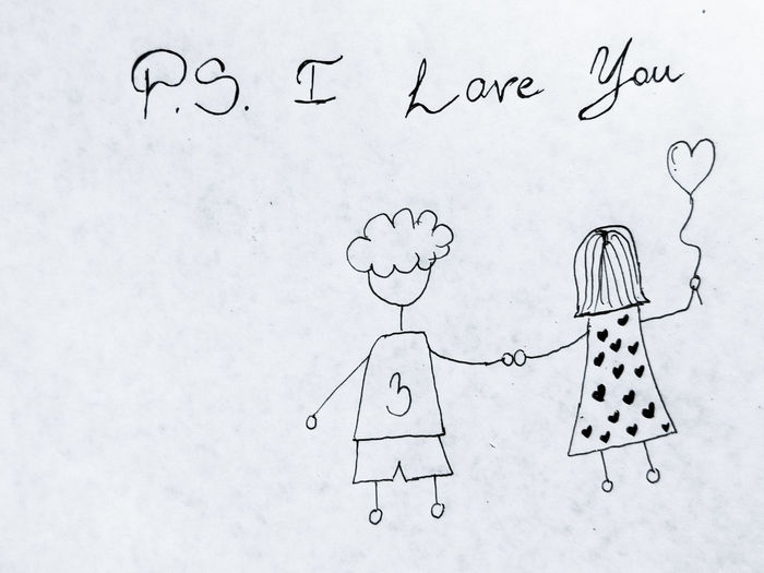 PS I LOVE YOU Couple EyeEmNewHere Holding Hands Love Ps I Love You Relationship Young Art And Craft Close-up Communication Creativity Cute Day Doodle Drawing Drawing - Activity Drawing - Art Product Handmade In Love No People Outdoors Paper Ps Sketch Text Black And White Friday