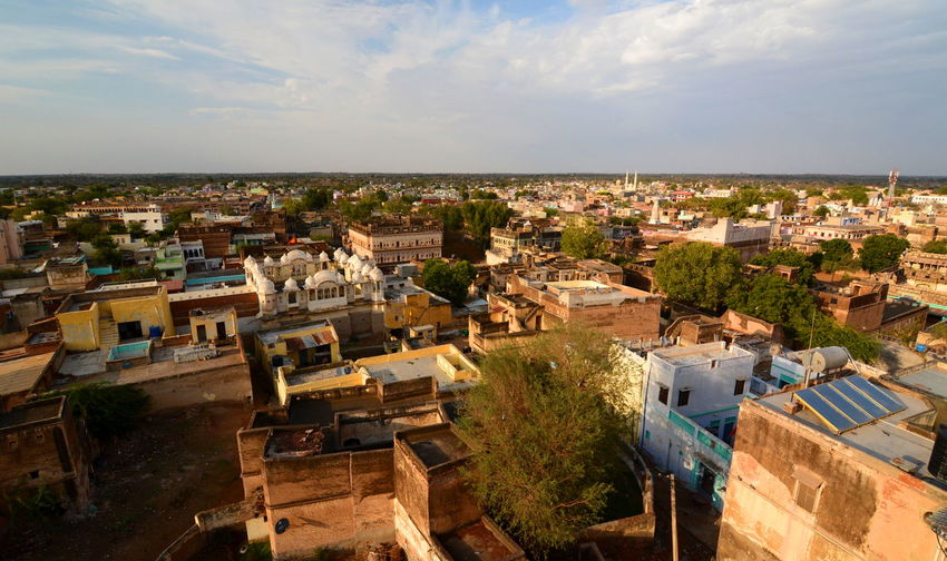 Mandawa, Rajasthan, India ASIA Asian  Building Exterior Cityscape Incredible India India Indian Landscape Mandawa Mandawa, Rajasthan Outdoors Panorama Panorama View Rajasthan Town TOWNSCAPE Travel Travel Photography Travelphotography
