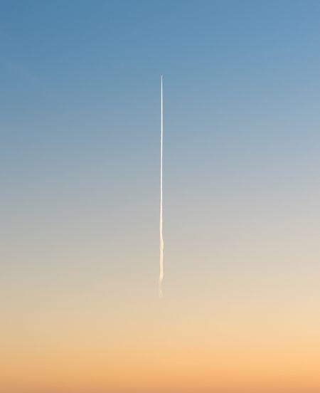 Vapor Trail Contrail No People Nature Clear Sky Outdoors Sky Gradient Gradiented Sky Blue Sky Orange Sky Plane Trace Minimalism Minimal Minimalobsession EyeEmBestPics EyeEm Best Edits EyeEm Best Shots The Week On EyeEm
