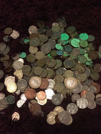Money Sterling Sterling Pound English Money Cash Savings Money Jar Loose Change Coin Currency No People Close-up Large Group Of Objects