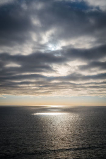 Beauty In Nature Cloud Cloud - Sky Cloudy Dramatic Sky Horizon Over Water Idyllic Ocean Ocean View Ocean Views Overcast Pacific Scenics Sea Seascape Stille Oceaan Sunset Sunsetting Sunsetting On Water The Pacific The Pacific Ocean Tranquil Scene Tranquility Water Weather