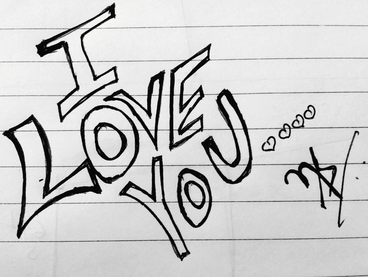 Love❤❤- Handwriting  Paper Arts Culture And Entertainment Posters Art Is Everywhere Calligraffiti Calligraphy Love Grafitti Lovelovelove Graffiti Love You💋 Love ♥ I Love You ! Love Passion