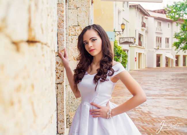White Dress Beauty Curly Hair Long Hair Portrait One Person People Fashion Beautiful People Adult Girls Human Body Part Fashion Model Young Adult Looking At Camera Fashion Stories