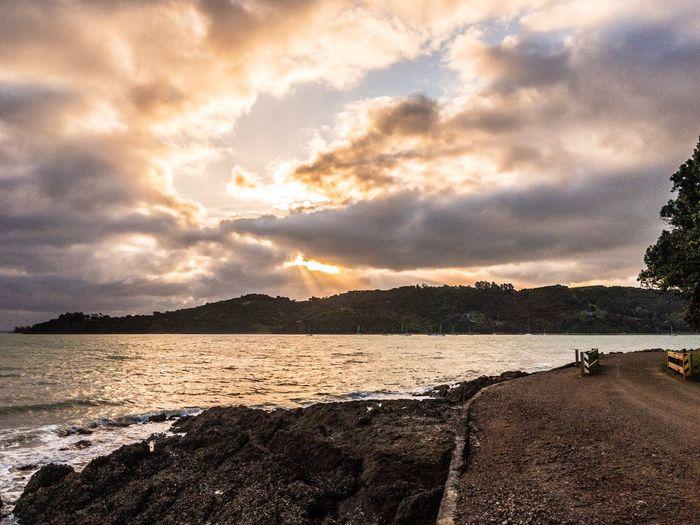 Sunset Beach Photography Waiheke Island Cloud - Sky Sea Cloudy Sky