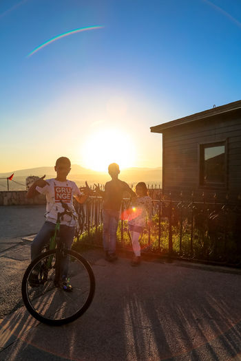 TheWeekOnEyeEM Kids Nature Nature Photography Shadows & Lights Turkey Bike Flare House Mountain Range Rainbow Shadow Sun Sunset