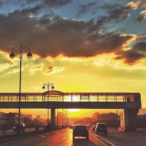 Azerbaijan Baku BINE Hava Limanı Life Sunset Sun Cloud City