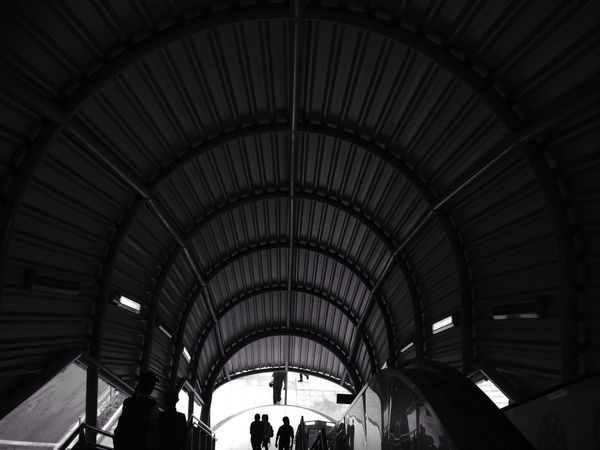 Built Structure Transportation Travel Architecture Indoors  Railroad Station Public Transportation Blackandwhite Black And White Black & White EyeEmNewHere Welcome To Black
