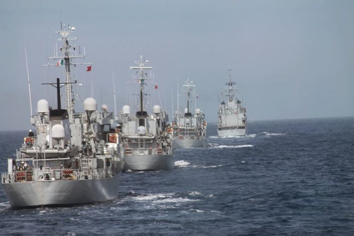 Convoy  Formation Military Nautical Vessel Navy Sea Ship Water