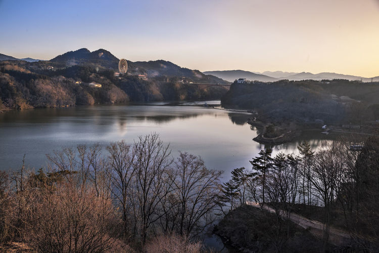 Ultimate Japan ENA Gorge The Early Morning Beauty In Nature Calm Dawn Idyllic Lake Lakeshore Landscape Majestic Mountain Mountain Range Nature Non Urban Scene Physical Geography Reflection Remote Scenics Sky Tranquil Scene Tranquility Travel Destinations Ultimate Japan Water