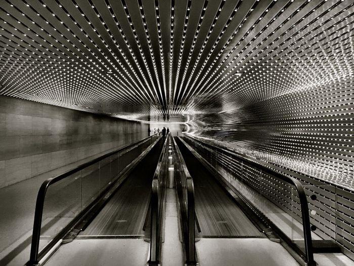 Black And White Connection Underground Washington, D. C. Museum Of Modern Art