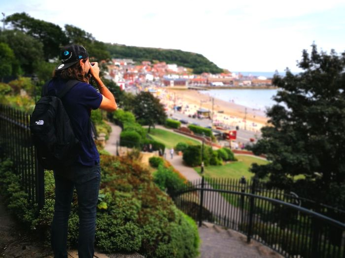 click One Person Viewpoint Seaside Town Youngman Young Man Water Photography Themes Camera - Photographic Equipment Sky Photographer