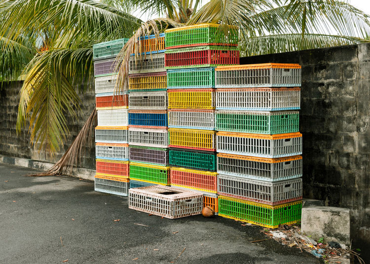 2014 (Malaysia) Abandoned Places ASIA Boxes Colorful Day Emty Multi Colored No People Outdoors Palm Trees APS-C DSLR