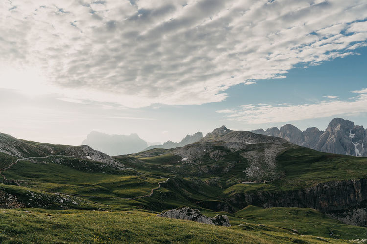 Dolomites Dolomites, Italy Alpe Di Siusi Mountains Mountains And Sky Clouds Clouds And Sky Italy Italian Alps Green Beauty In Nature Scenics - Nature Tranquil Scene Sky Mountain Cloud - Sky Tranquility Landscape Environment Non-urban Scene Green Color Mountain Range Nature Grass Plant No People Remote Rolling Landscape Day Idyllic Mountain Peak Outdoors Land