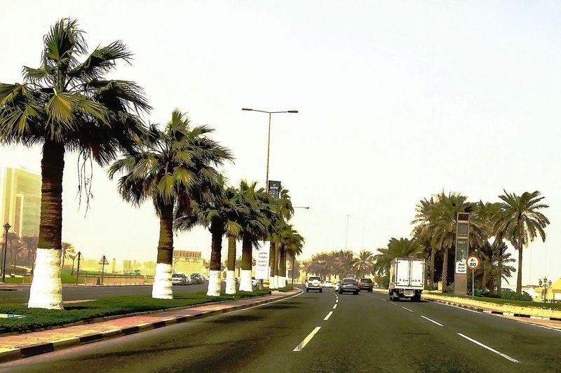 Sand storm Driving iphonephoto Doha Corniche Neighborhood Map