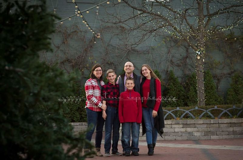 Christmas Red Casual Clothing Togetherness Outdoors Happiness Smiling Christmas Tree Nature Tree Bonding Full Length Family Portrait