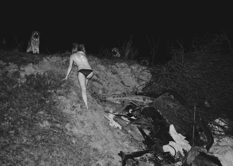 Devil is Fine Dogs Linas Was Here Wolve Accident Action Black And White Climbing Dump Girls Back Hill Night Thrash Wild