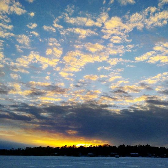 Enjoying Life Taking Photos Sunsetstalker Godsbeauty Outdoors Nature Sky And Clouds Relaxing Icefishing
