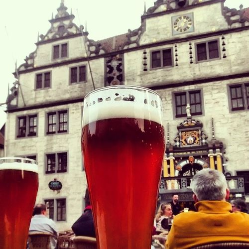 Lecker frisch gebrautes Bier.