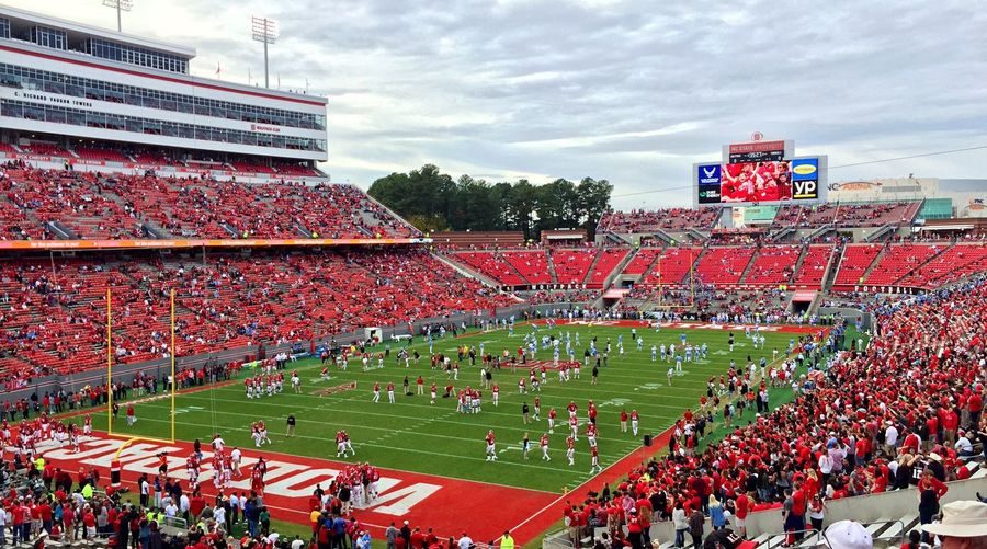 Let the games begin Football Sports Stadium Raleigh North Carolina Panorama Colors Atmosphere Crowd