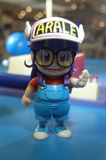 Arale Japanese Story Art And Craft Close-up Focus On Foreground Indoors  Representation Toy