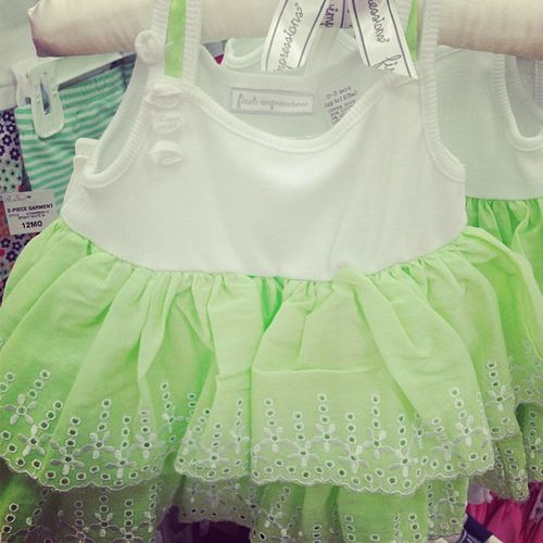 Babygirl Babyclothes Babygirlclothes Babydress limegreen limegreennwhite limegreendress sundress babysundress dress
