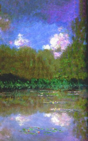 Water Lilies atmosphere. Claude Monet Waterlilies