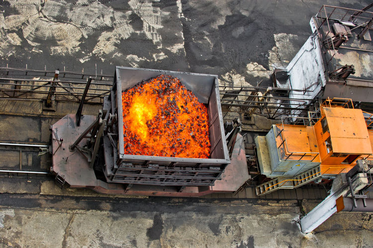 NLMK, Altai coke plant, Russia, metallurgy, wewalka coke from ovens Burning Fire - Natural Phenomenon Flame Metallurgy NLMK, Altai Coke Plant, Russia, Metallurgy, Wewalka Coke From Ovens No People Orange Color Outdoors