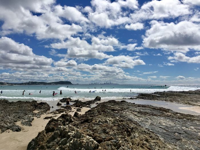 Australia Surf Beach Beauty In Nature Cloud - Sky Outdoors Scenics - Nature Sea Surfing Water