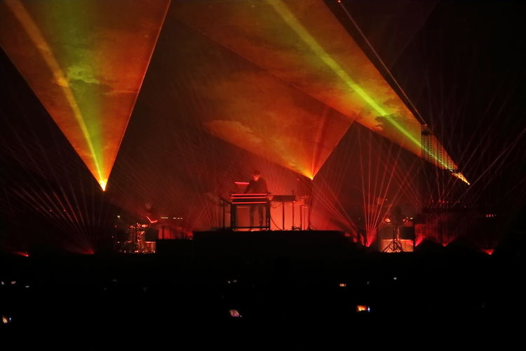 Architecture Arts Culture And Entertainment Brussels Expo Built Structure Concert Concert Photography Illuminated Indoors  Jean Michel Jarre Laserart Lasershow Night No People Red