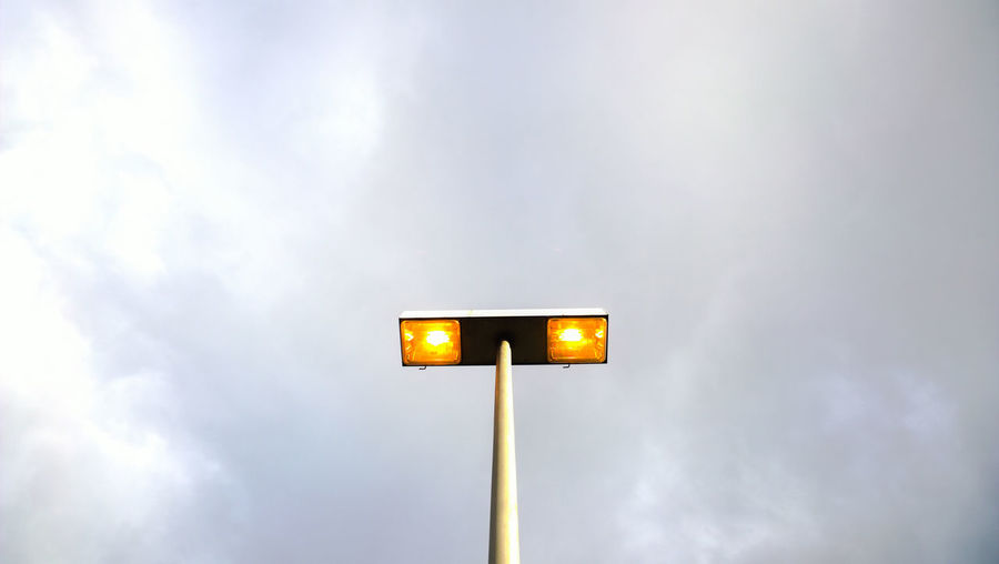 Cloud - Sky Electricity  Illuminated Lighting Equipment Low Angle View No People Outdoors Sky Street Light Yellow