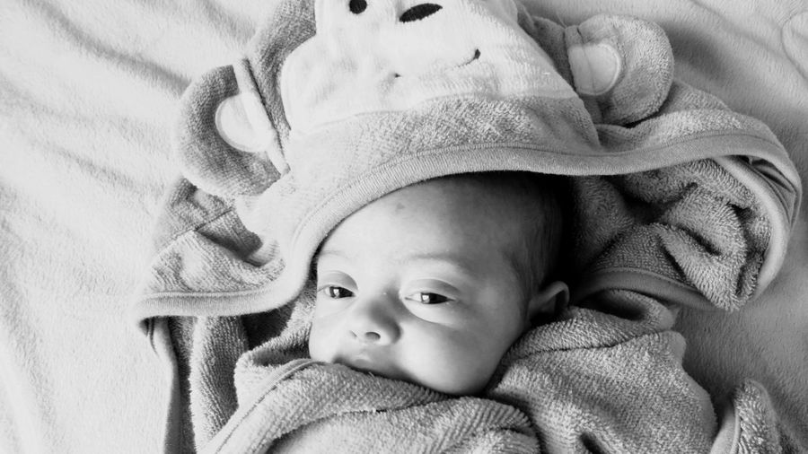 Wrapped In A Towel EyeEm Selects Baby Childhood Child Young Innocence Cute Babyhood Real People