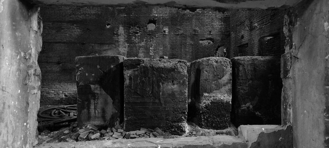 Old weathered wall of building