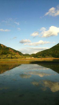 Reflection Landscape No People Cloud Sky Rural View Japan Taking Photos Eyeemphotography Nature The Great Outdoors - 2017 EyeEm Awards TheWeekOnEyeEM This Week On EyeEm. Mountain 空 景色 風景 反射