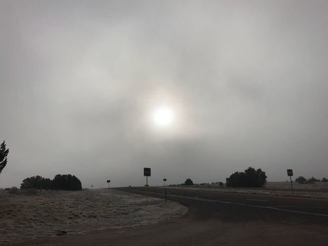 Hazed out sun. Colorado Highway Sun Sky Cloud - Sky Outdoors Tranquility Scenics Nature No People Road Beauty In Nature Landscape Day