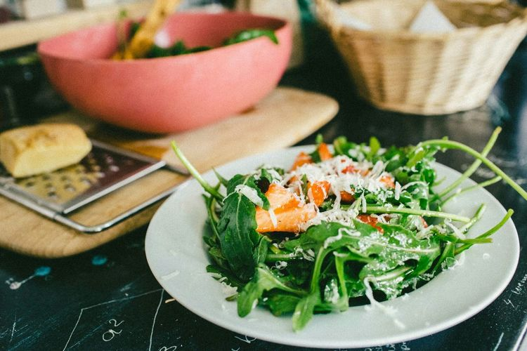 The Foodie - 2015 EyeEm Awards The spring tastes good // Local Strawberry meets fiery rocket with a quick lemon vinaigrette dressing and pecorino shavings