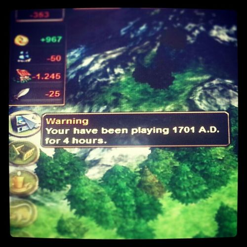 Gaming Warning Tired 5am Allnighter Fun you know you've been playing too long when the game starts warning you...