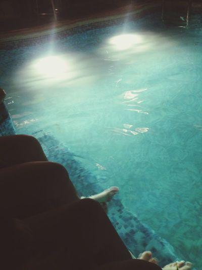 Pool Swimming Pool Girls Summer Night