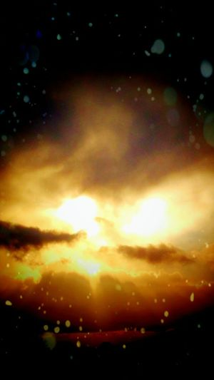 Art Is Everywhere Cloud - Sky Dramatic Sky Backgrounds Sunset Yellow Multi Colored Night Sky Space Astronomy Star - Space Outdoors EyeEmNewHere